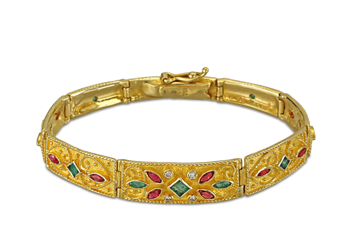 Byzantine bracelet with diamonds