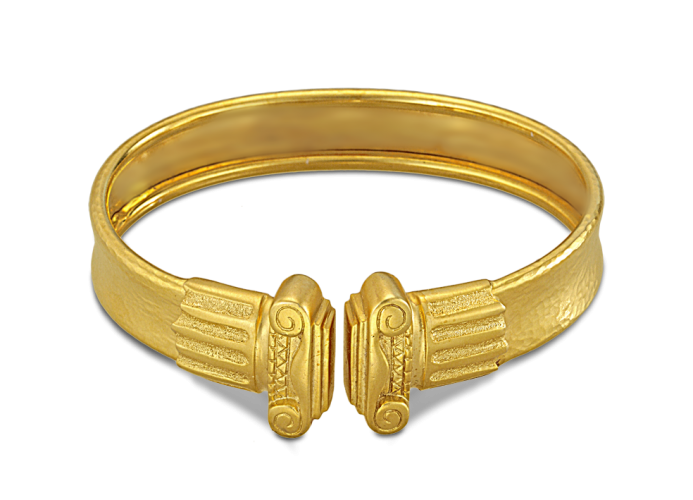Cuff bracelet with Ionian column