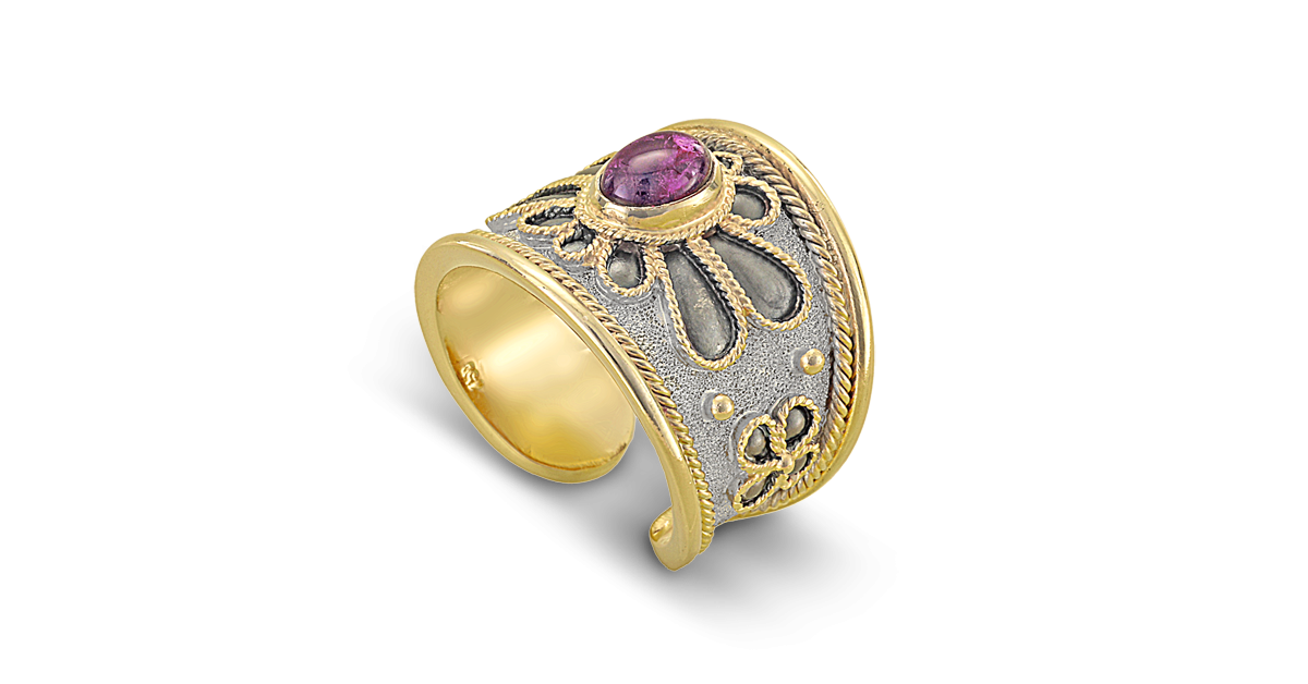 Byzantine Ring with Amethyst