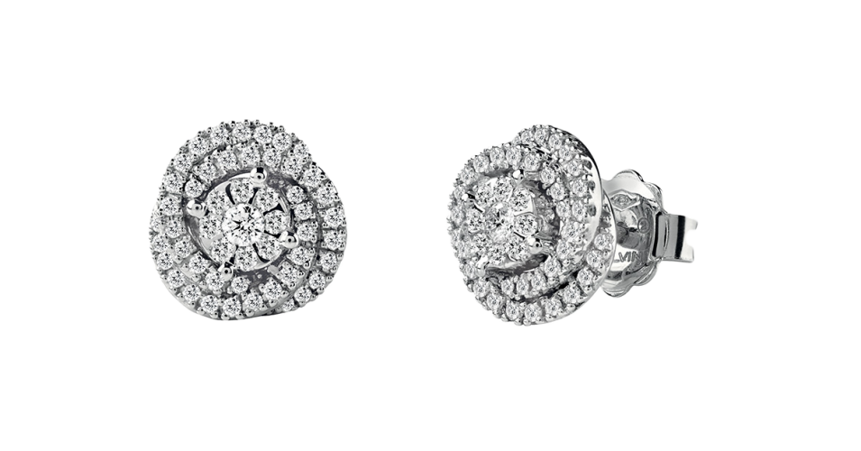 Daphne White Gold Earrings with Diamonds