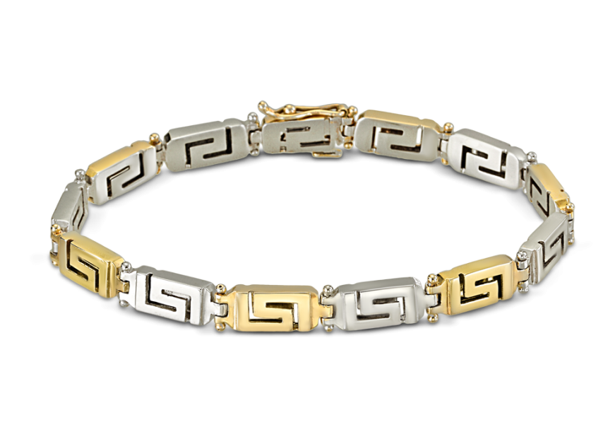 Reversible Greek key bracelet