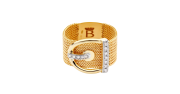 Buckle Ring with Diamonds