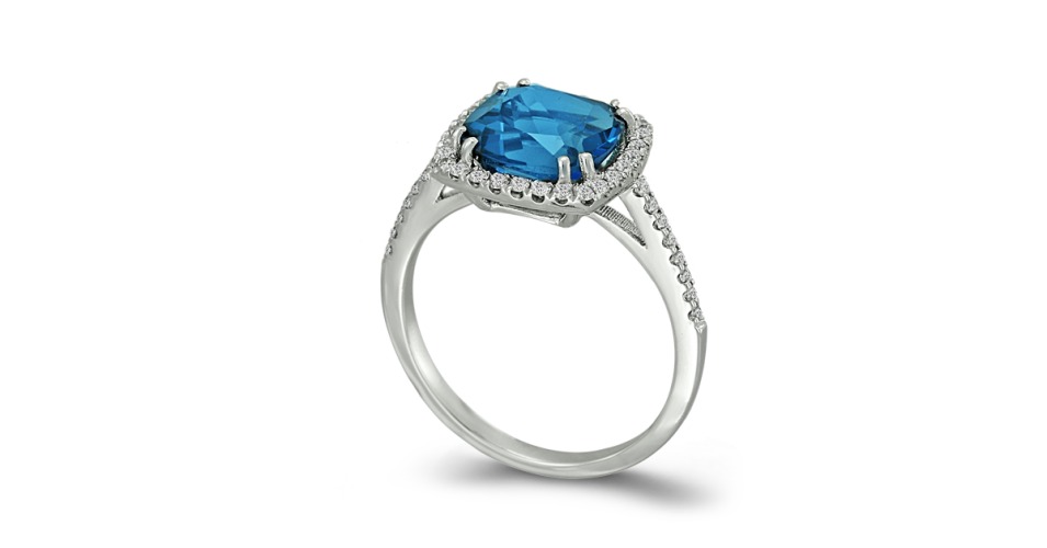 Blue London Ring with diamonds