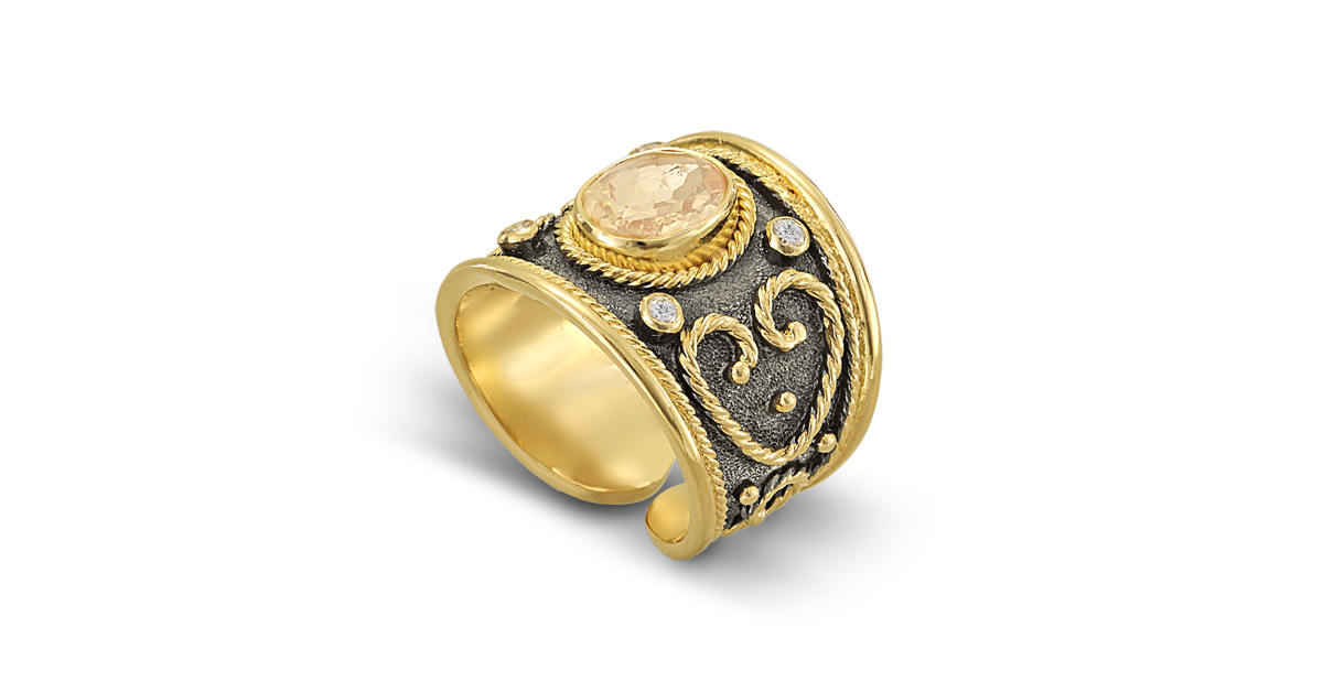 Byzantine Ring with Heart design
